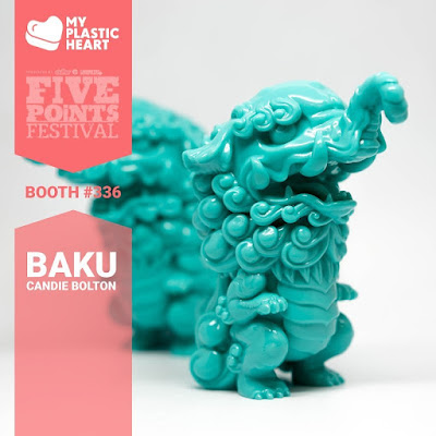 Five Points Festival 2019 Exclusive Baku Vinyl Figure by Candie Bolton x Pobber x myplasticheart