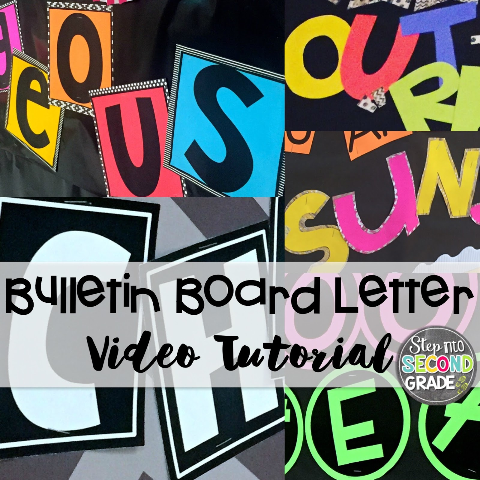letters for bulletin boards templates - step into 2nd grade with mrs lemons bulletin boards