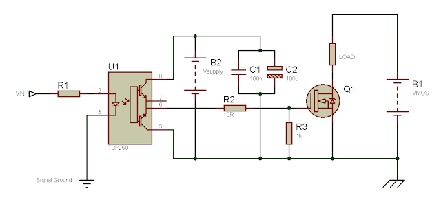 Using the TLP250 Isolated MOSFET Driver - Explanation and Example Circuits 9