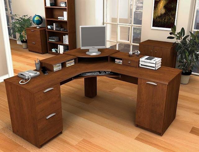 best buying corner home office desk furniture wood for sale