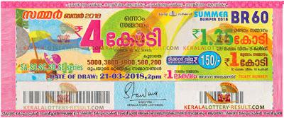 Vishu Bumper Lottery Result BR 61