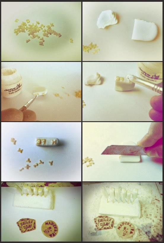 sellos para porcelana tutorial