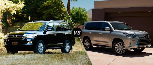 2016 Toyota LandCruiser vs 2016 Lexus LX570 - Toyota Land Cruiser và Lexus LX570 2016 thế hệ mới : Chọn bền bỉ hay thương hiệu - Muaxegiatot.vn