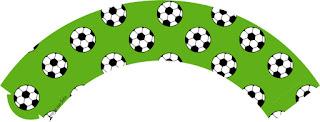 Wrappers para cupcakes de Fútbol