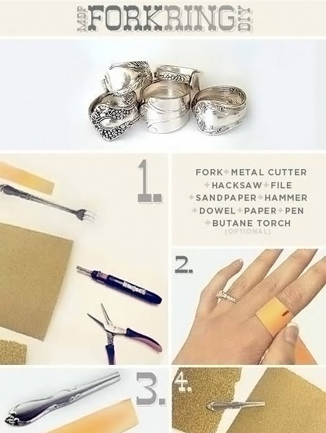 Bead Snob: DIY Jewelry: How to Make a Fork Ring