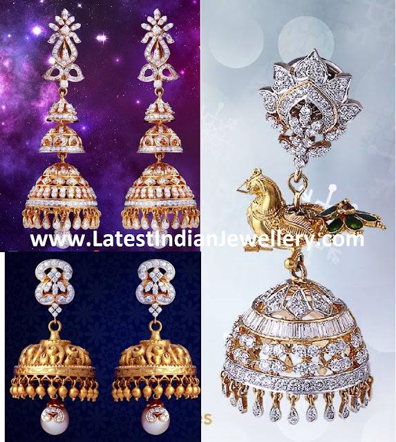 Vasundhara Diamond Jhumkas
