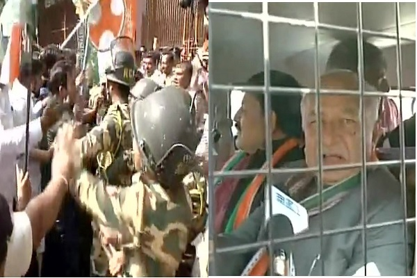 नोटबंदी के खिलाफ प्रदर्शन कर रहे कांग्रेसियों पर पुलिस ने बरसाए डंडे, कई बड़े कांग्रेसी नेता हिरासत में