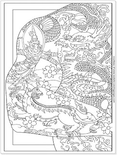 dragon tattoo coloring pages to print