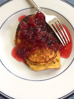 Eggnog Pancakes with Cranberry Orange Syrup: Savory Sweet and Satisfying