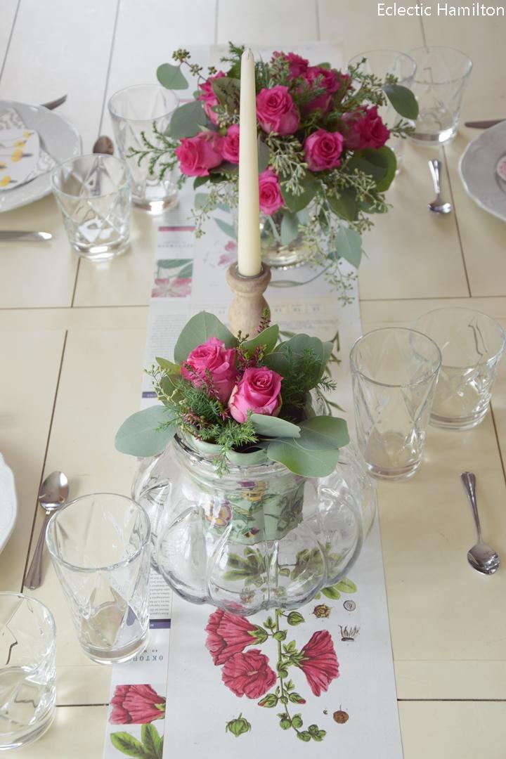 Tischdeko wohnzimmertisch  Botanische Tischdeko und Einblicke ins Esszimmer (das bald ganz ...