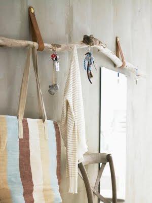 hanging driftwood rack