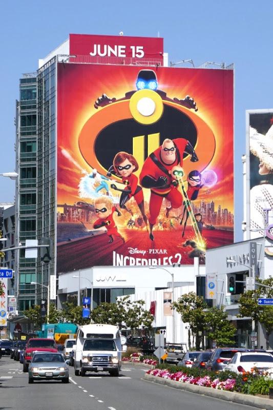 Giant Incredibles 2 movie billboard