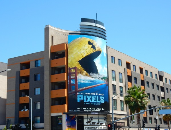Pixels Movie PacMan billboard