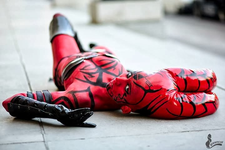 darth talon cosplay bodypaint
