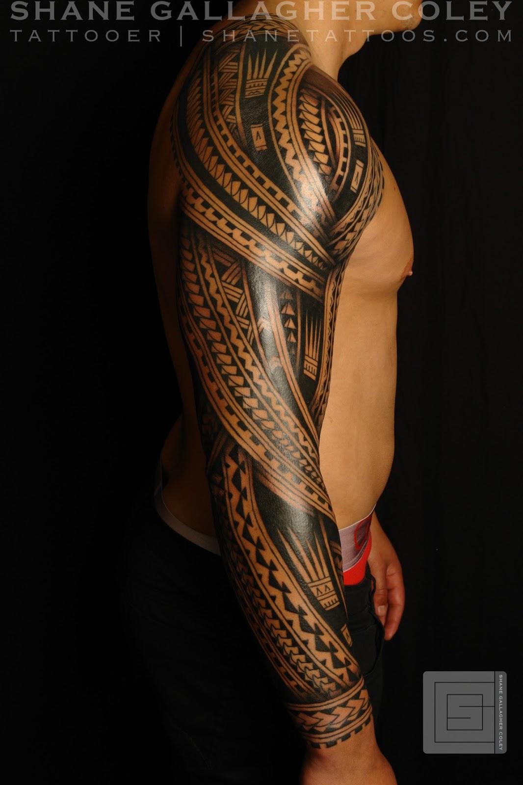 27d40f634 Maori Tattoo Gallery: Polynesian Sleeve Tattoo/Tatau
