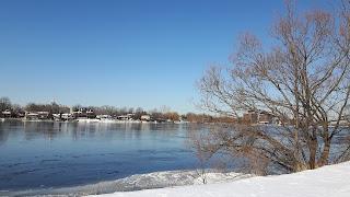Rivière des Prairies l'hiver