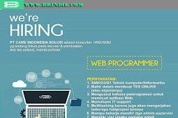 Info Lowongan Kerja Web Programmer Terbaru