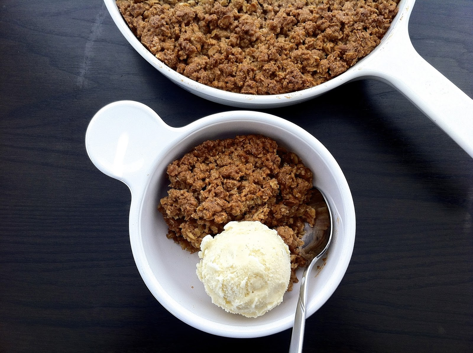 Maple Cheddar Apple Crumble with Ice Cream