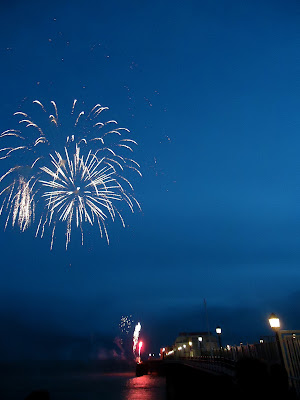 Fireworks over Worthing Pier