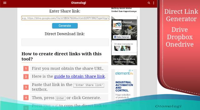 Cara Membuat Tool Link Generator Untuk Google Drive Dropbox Dan Onedrive