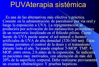 PUVA Terapia│Tratamiento Para el Vitíligo.