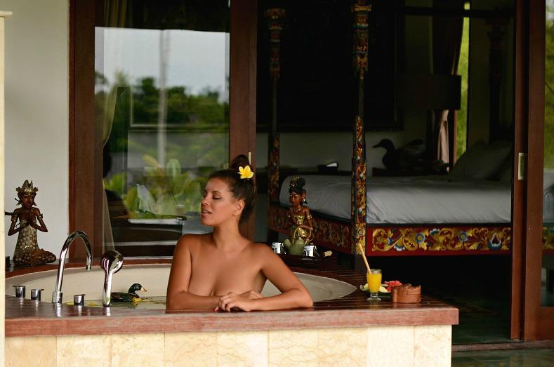 Tamara Chloé, Aqua Octaviana Bali Villa, Private Jaccuzi suite, Bali, Indonesia