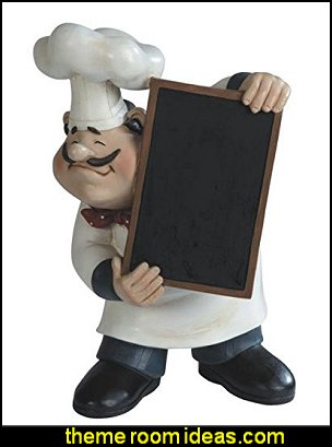 Chef Holding A Tray Figurine