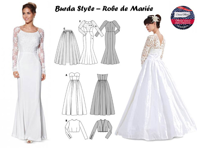 Patron couture robe fille mariage