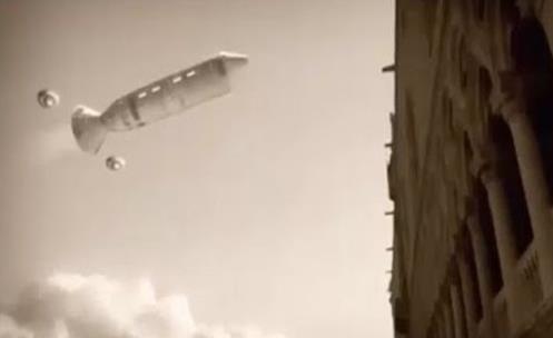 Na Italia Um Gigante nave Extraterrestre