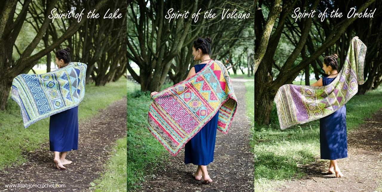 Spirits of Life Wrap CAL - designed by www.lillabjorncrochet.com