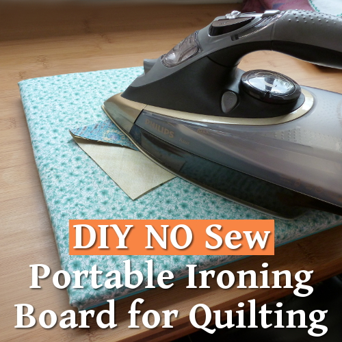 DIY no sew portable ironing board for quilting and sewing projects