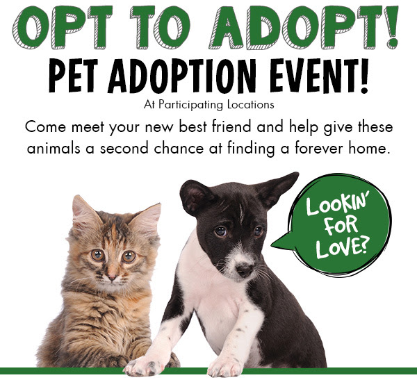 Pet Adoption Events Today