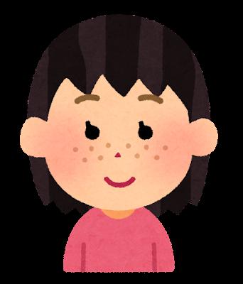 そばかすのある女の子のイラスト