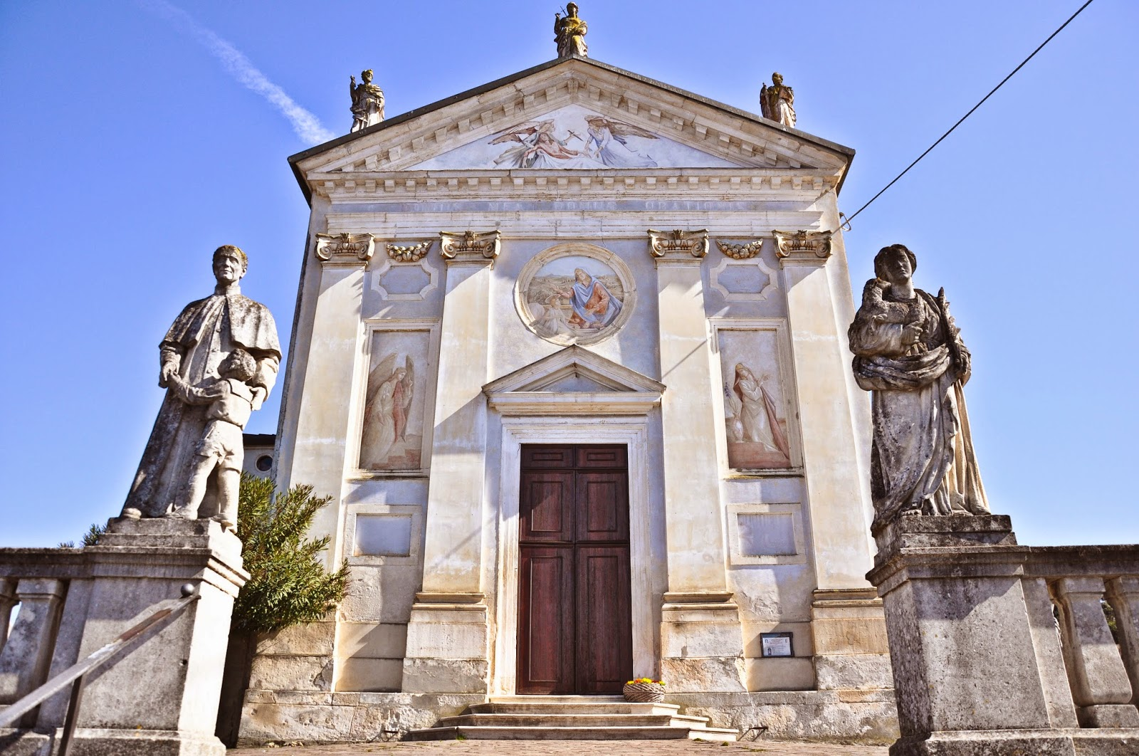 The church in Arcugnano, Colli Berici