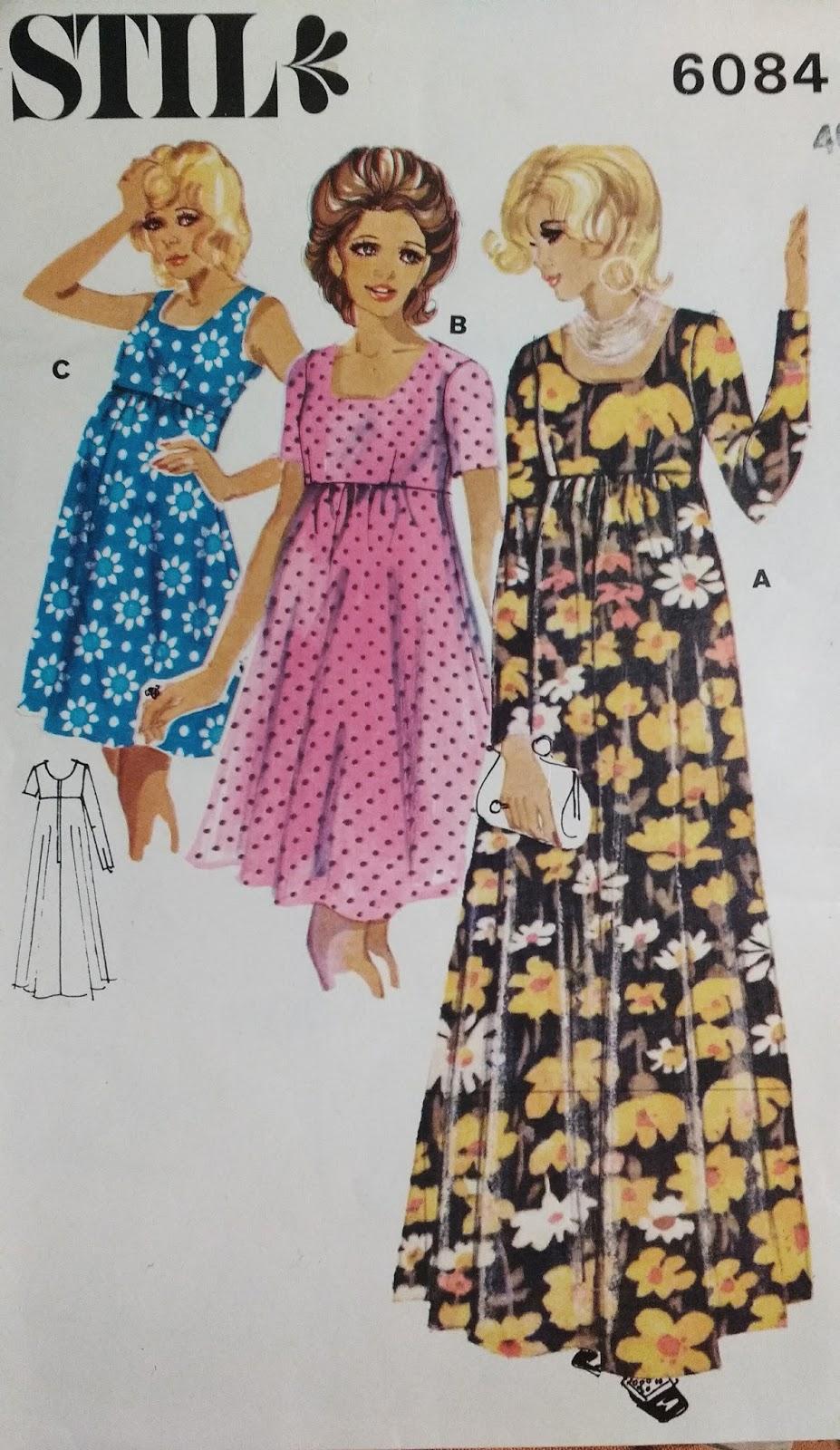 db2555eb Lang kjole mønster