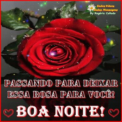 Passando para deixar essa rosa para você!