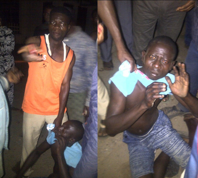 Victim clamps ATM robber at Skye Bank, Ikorodu today