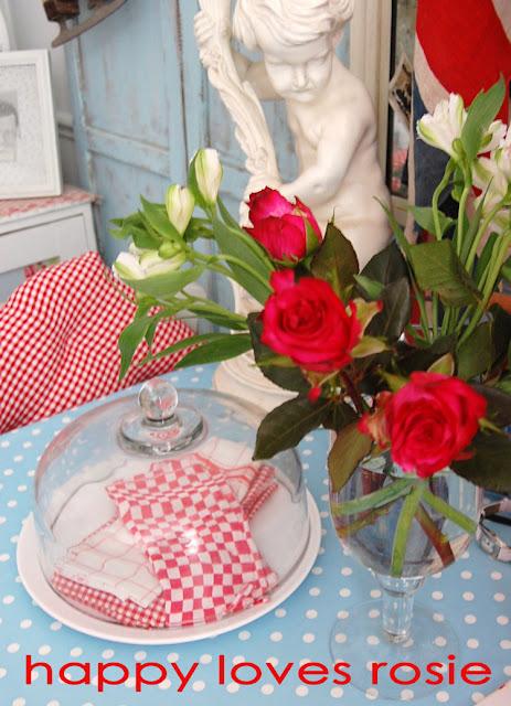 spring roses easter decor