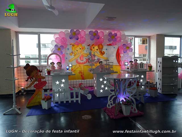 Decoração de festa tema Bailarinas, aniversário infantil feminino de 1 ano - Jacarepaguá-RJ