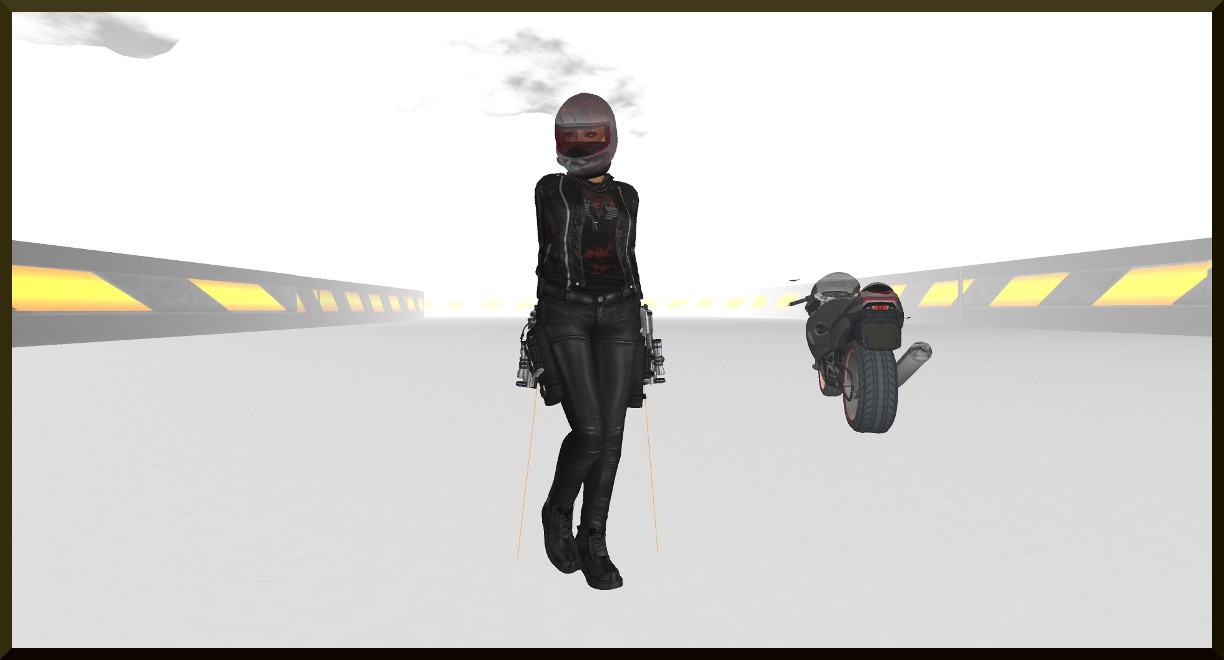 leather outfit and mask SL2