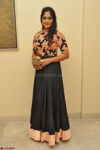 Sowmya Venugopal in Anarkali Dress at Kalamandir Foundation 7th anniversary Celebrations ~  Actress Galleries 001.JPG