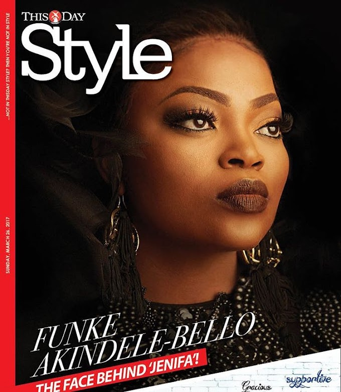 Nigerian actress Funke Akindele stuns for ThisDay Style (photos)