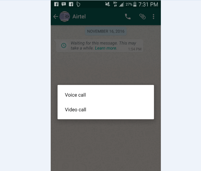 make WhatsApp Video Call