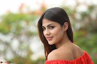 Rhea Chakraborty in Red Crop Top and Denim Shorts Spicy Pics ~  Exclusive 188.JPG