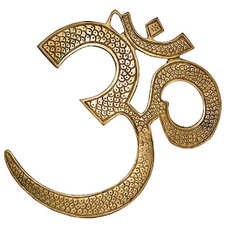 DronaCraft Om, Hindu Spiritual Brass Wall Decor