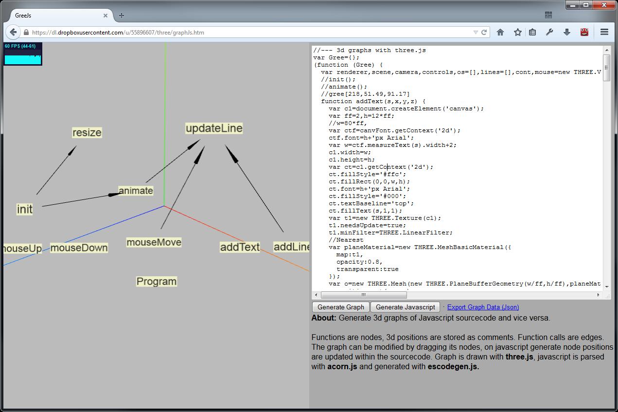 Pl4n3's world: Gree - 3d graphs (of json or javascript)