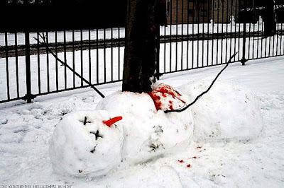 Witziger sterbender Schneemann lachbilder Winter