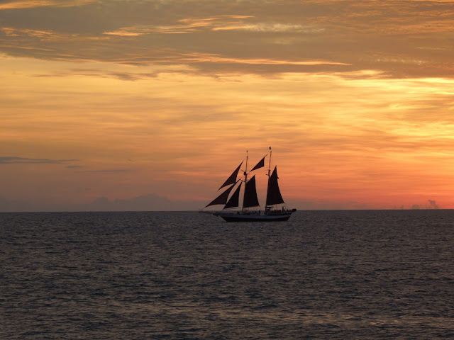 Key West sunset sailboat