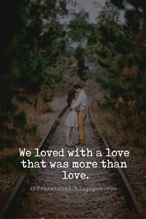 Cute Valentines Day Quotes, We loved with a love that was more than love.