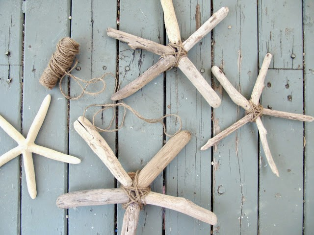 Estrellas decorativas con madera del mar4
